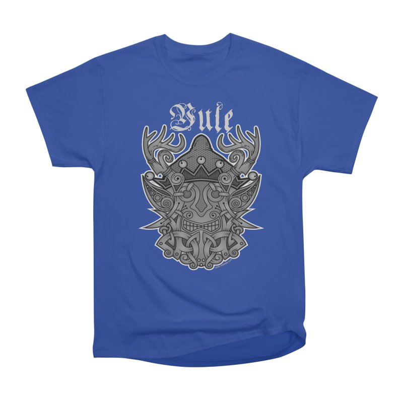 Yule Elf Viking Godmask Men's Classic T-Shirt by Celtic Hammer Club Apparel