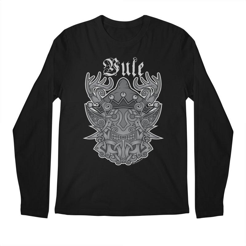Yule Elf Viking Godmask Men's Longsleeve T-Shirt by Celtic Hammer Club Apparel