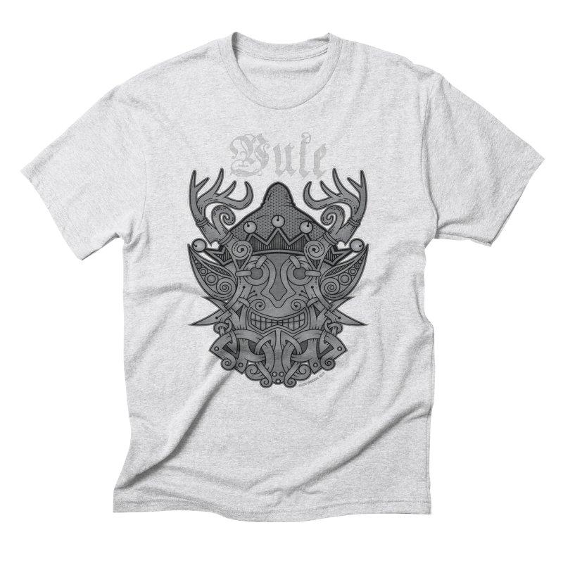 Yule Elf Viking Godmask Men's Triblend T-Shirt by Celtic Hammer Club Apparel