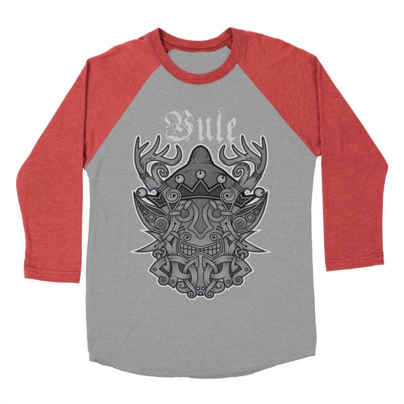 Yule Elf Viking Godmask Women's Baseball Triblend T-Shirt by Celtic Hammer Club Apparel