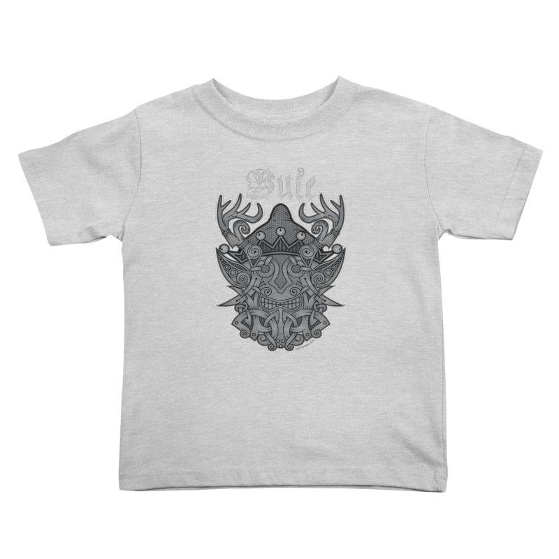 Yule Elf Viking Godmask Kids Toddler T-Shirt by Celtic Hammer Club Apparel