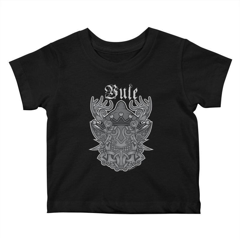 Yule Elf Viking Godmask Kids Baby T-Shirt by Celtic Hammer Club Apparel