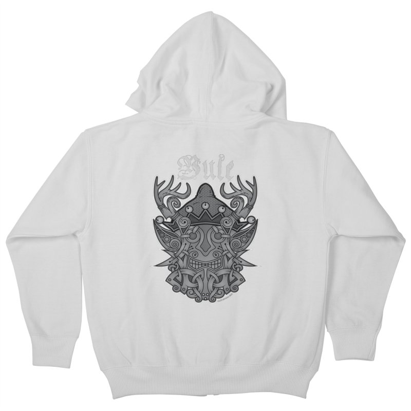 Yule Elf Viking Godmask Kids Zip-Up Hoody by Celtic Hammer Club Apparel