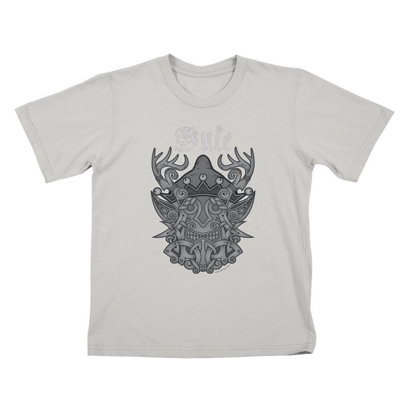 Yule Elf Viking Godmask Kids T-Shirt by Celtic Hammer Club Apparel