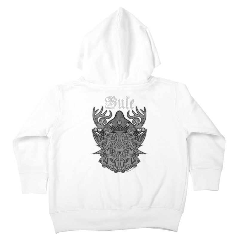 Yule Elf Viking Godmask Kids Toddler Zip-Up Hoody by Celtic Hammer Club Apparel