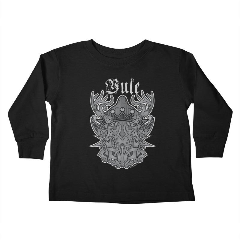 Yule Elf Viking Godmask Kids Toddler Longsleeve T-Shirt by Celtic Hammer Club Apparel