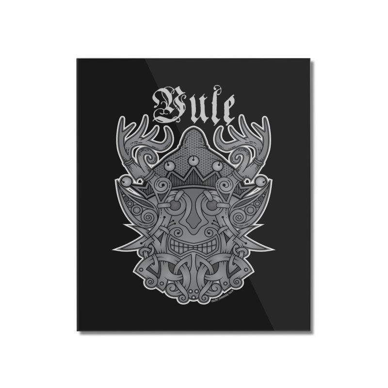 Yule Elf Viking Godmask Home Mounted Acrylic Print by Celtic Hammer Club Apparel