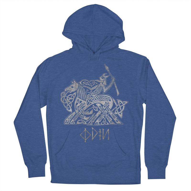 Odin Riding into Valhalla on Sleipnir (Gray) Women's Pullover Hoody by Celtic Hammer Club Apparel