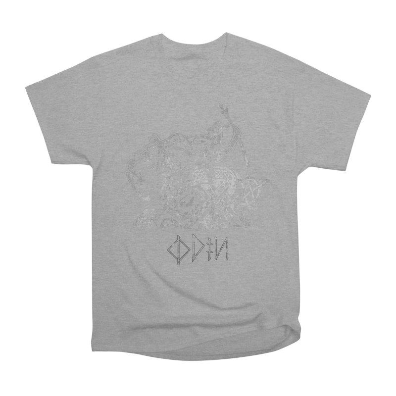 Odin Riding into Valhalla on Sleipnir (Gray) Women's Classic Unisex T-Shirt by Celtic Hammer Club Apparel