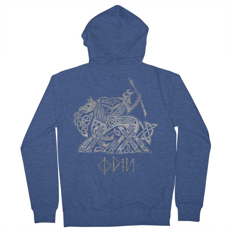 Odin Riding into Valhalla on Sleipnir (Gray) Women's Zip-Up Hoody by Celtic Hammer Club Apparel