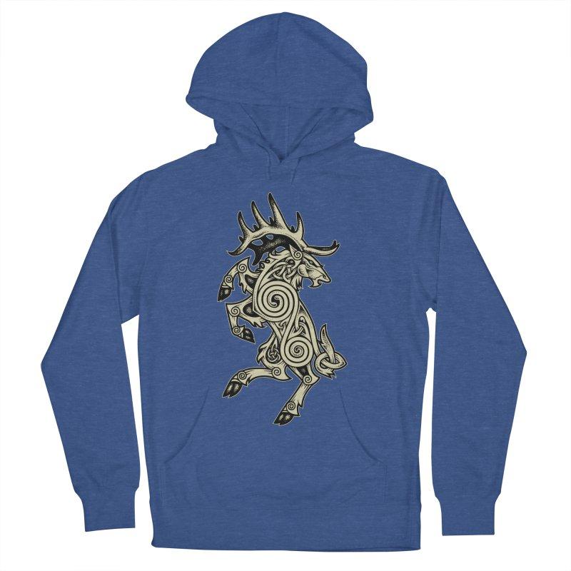 Celtic Elk Rampant Men's Pullover Hoody by Celtic Hammer Club Apparel