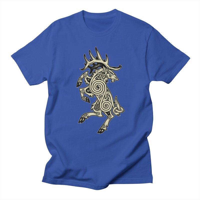 Celtic Elk Rampant Men's T-Shirt by Celtic Hammer Club Apparel