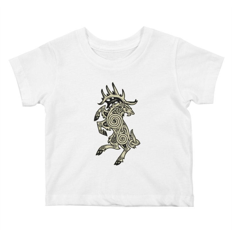 Celtic Elk Rampant Kids Baby T-Shirt by Celtic Hammer Club