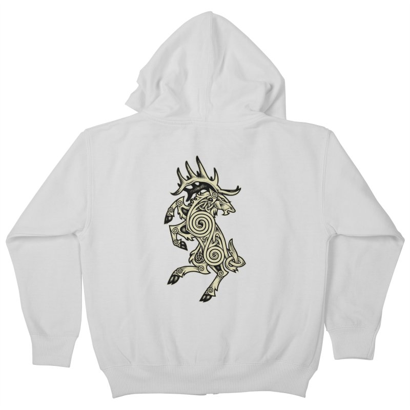 Celtic Elk Rampant Kids Zip-Up Hoody by Celtic Hammer Club Apparel