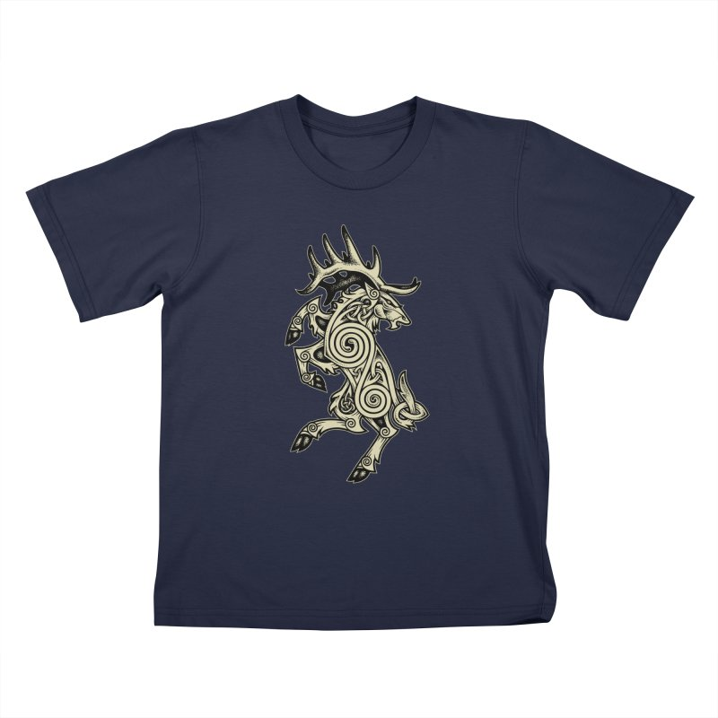 Celtic Elk Rampant Kids T-Shirt by Celtic Hammer Club Apparel