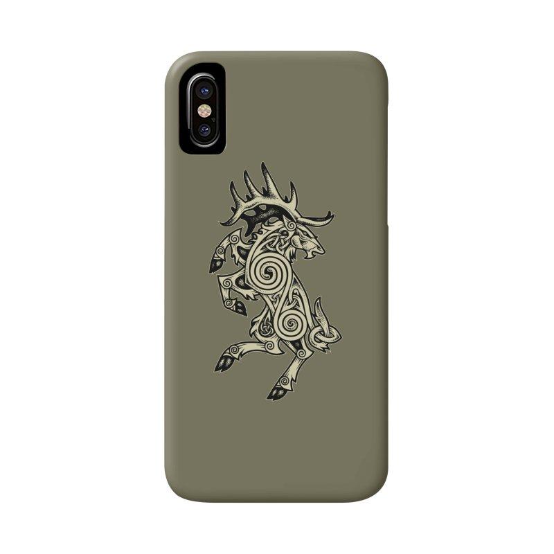 Celtic Elk Rampant Accessories Phone Case by Celtic Hammer Club Apparel