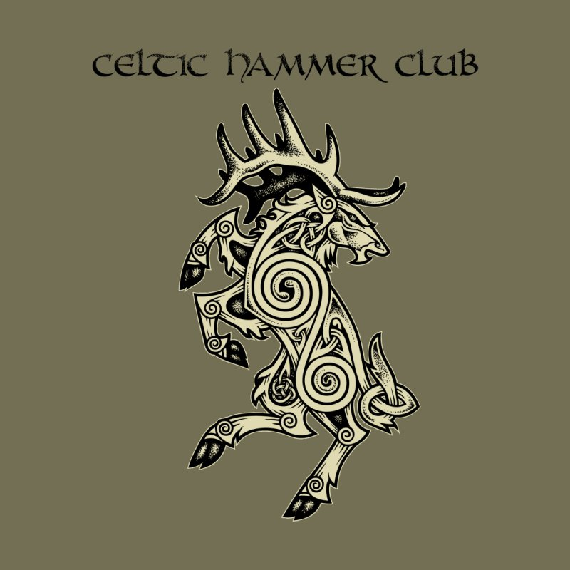 Celtic Elk Rampant   by Celtic Hammer Club Apparel