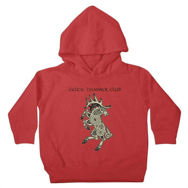 Celtic Elk Rampant Kids Toddler Pullover Hoody by Celtic Hammer Club Apparel