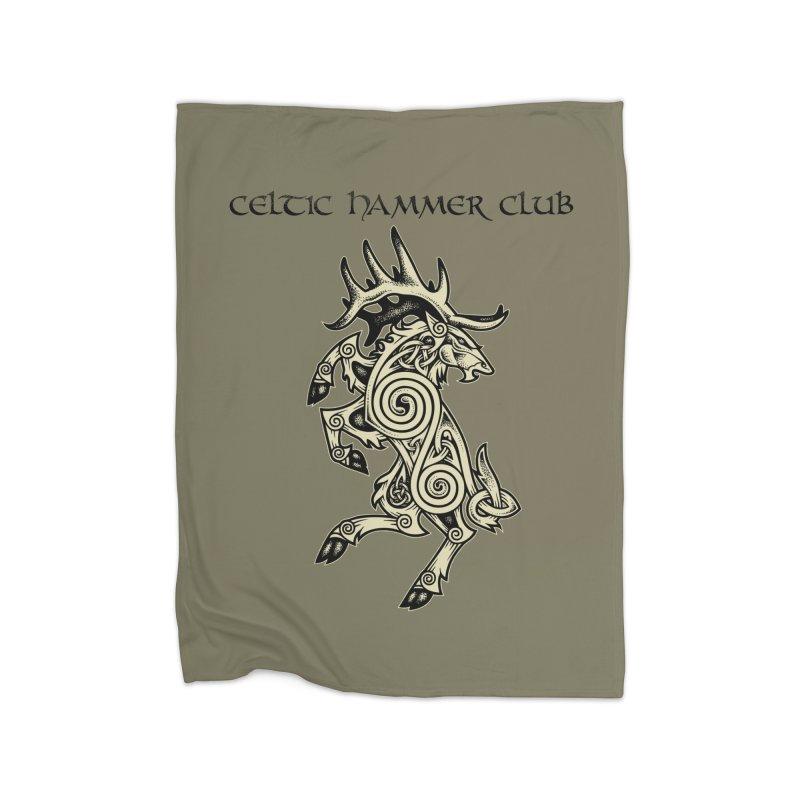 Celtic Elk Rampant Home Blanket by Celtic Hammer Club Apparel