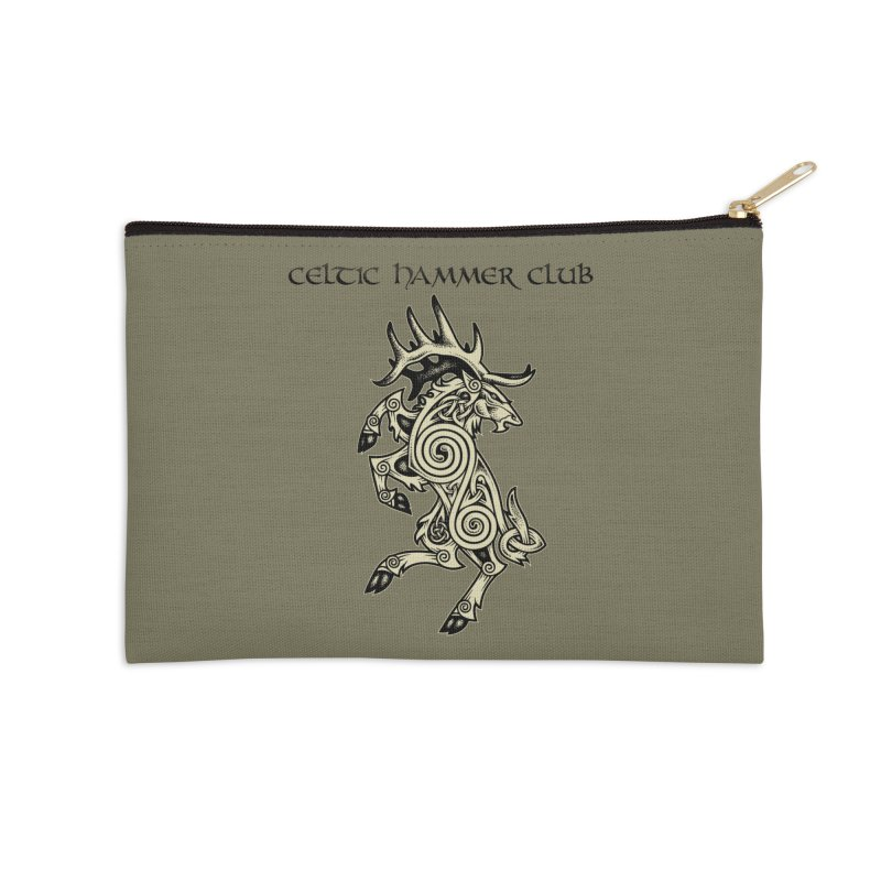 Celtic Elk Rampant Accessories Zip Pouch by Celtic Hammer Club Apparel