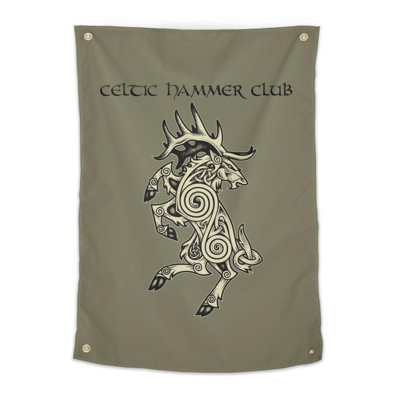 Celtic Elk Rampant Home Tapestry by Celtic Hammer Club Apparel