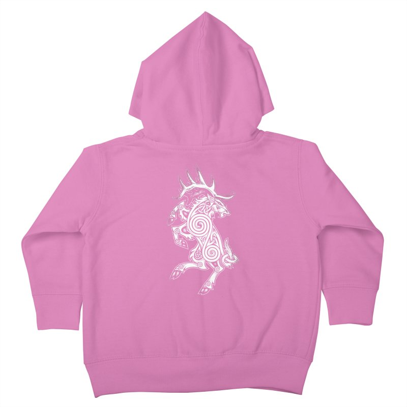 Celtic Elk Rampant Kids Toddler Zip-Up Hoody by Celtic Hammer Club Apparel