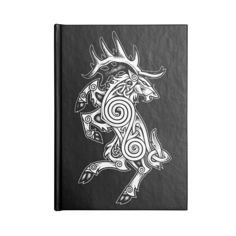 Celtic Elk Rampant Accessories Notebook by Celtic Hammer Club Apparel