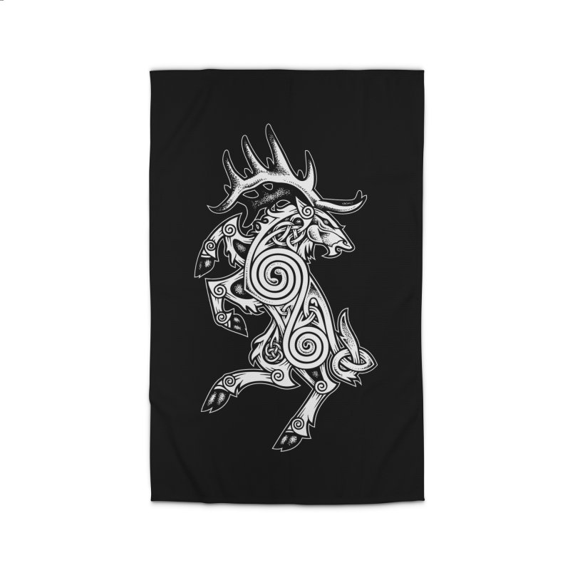 Celtic Elk Rampant Home Rug by Celtic Hammer Club Apparel