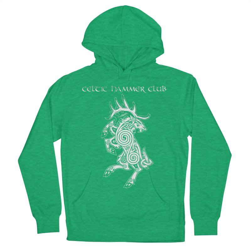 Celtic Elk Rampant Women's French Terry Pullover Hoody by Celtic Hammer Club