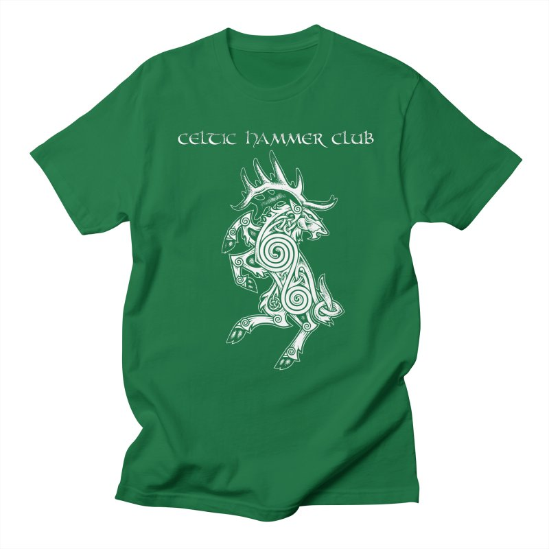 Celtic Elk Rampant Men's Regular T-Shirt by Celtic Hammer Club Apparel