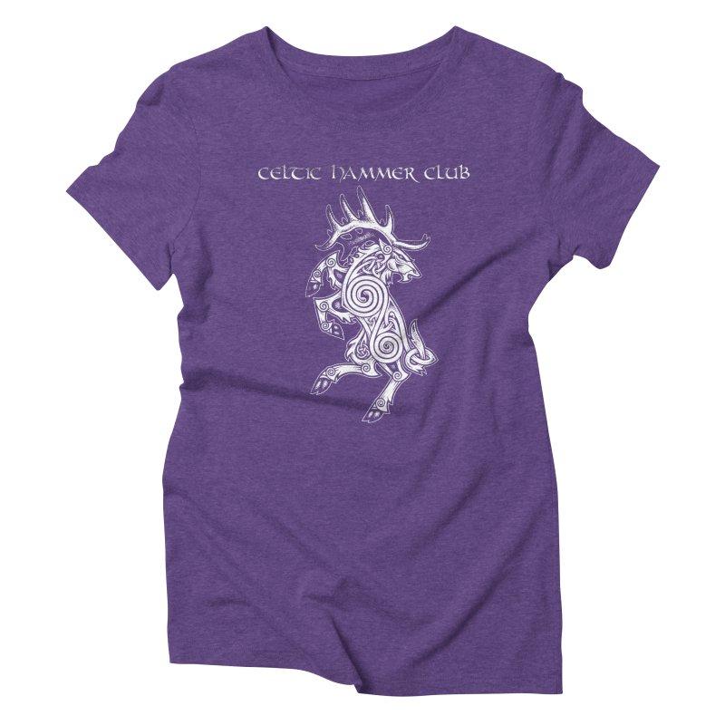 Celtic Elk Rampant Women's Triblend T-Shirt by Celtic Hammer Club Apparel
