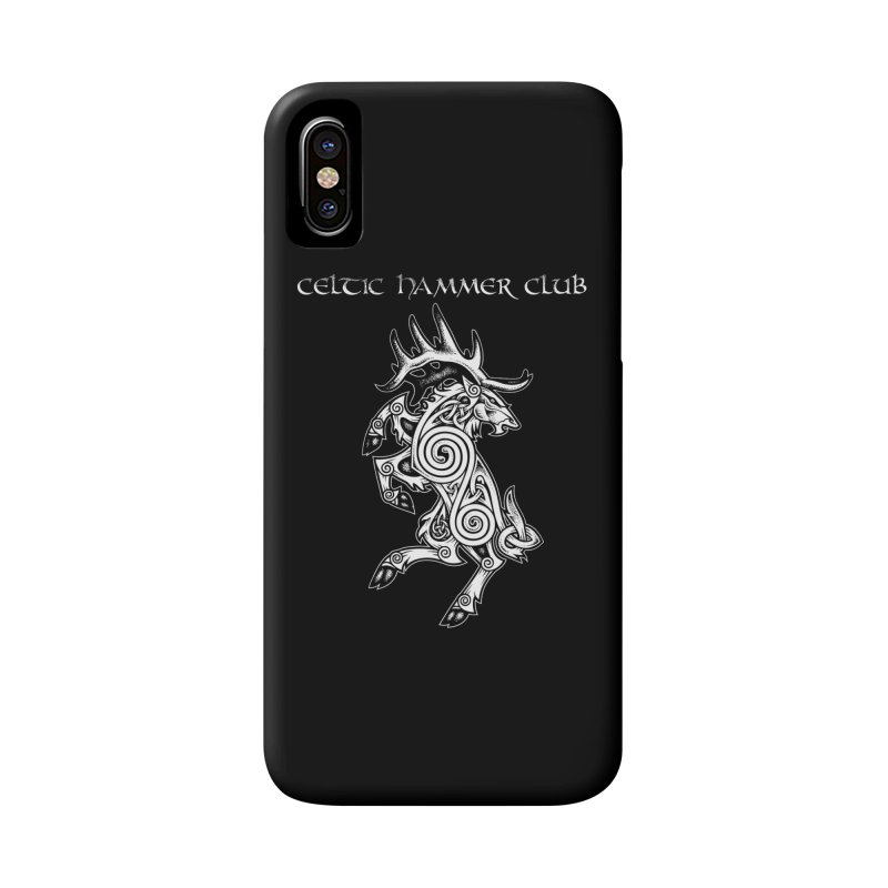 Celtic Elk Rampant Accessories Phone Case by Celtic Hammer Club Apparel