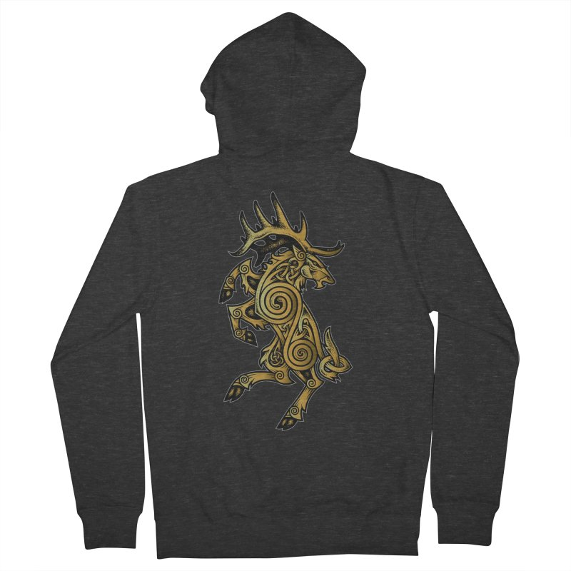 Celtic Elk Rampant Men's Zip-Up Hoody by Celtic Hammer Club Apparel