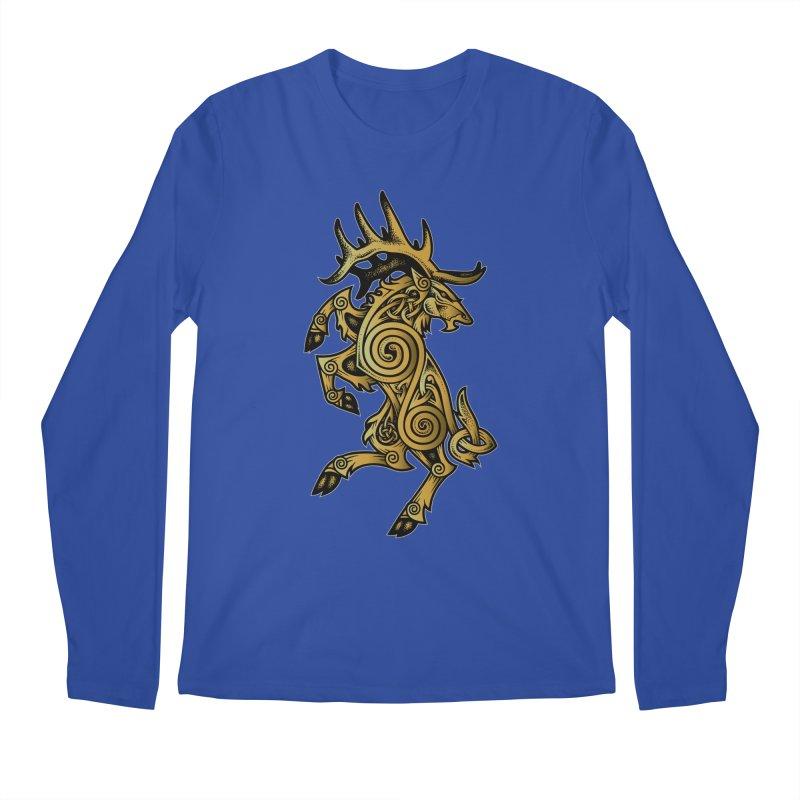 Celtic Elk Rampant Men's Longsleeve T-Shirt by Celtic Hammer Club Apparel