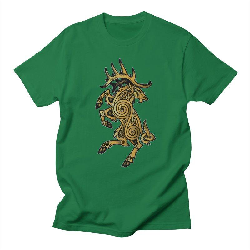 Celtic Elk Rampant Women's Regular Unisex T-Shirt by Celtic Hammer Club Apparel