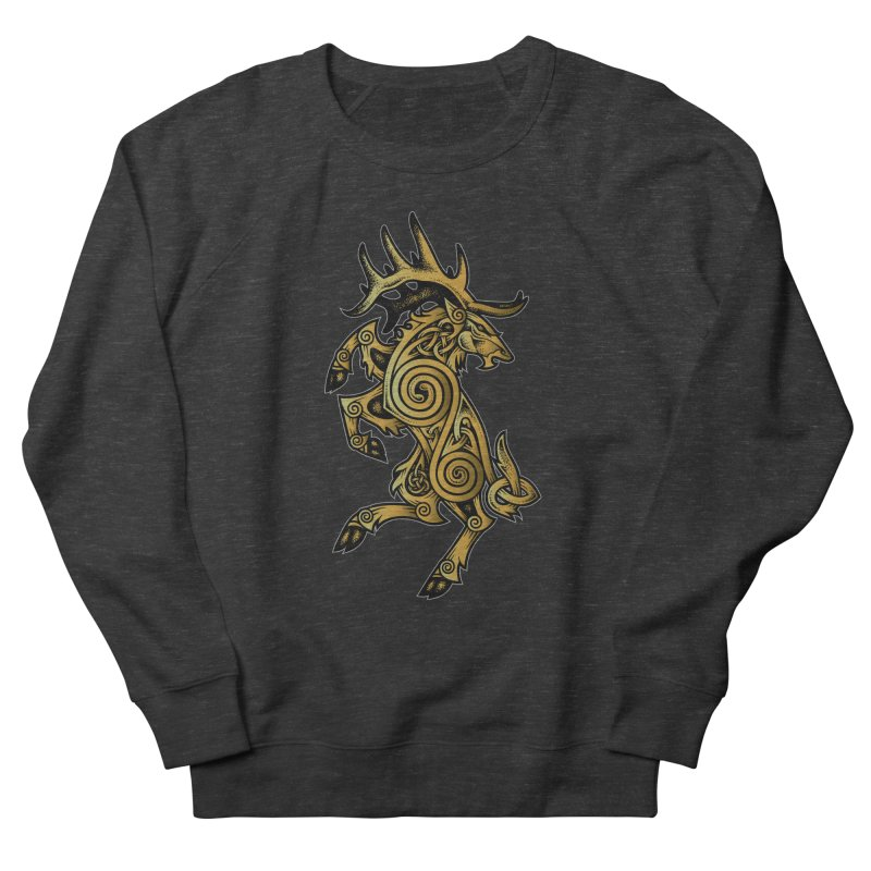 Celtic Elk Rampant Men's French Terry Sweatshirt by Celtic Hammer Club Apparel