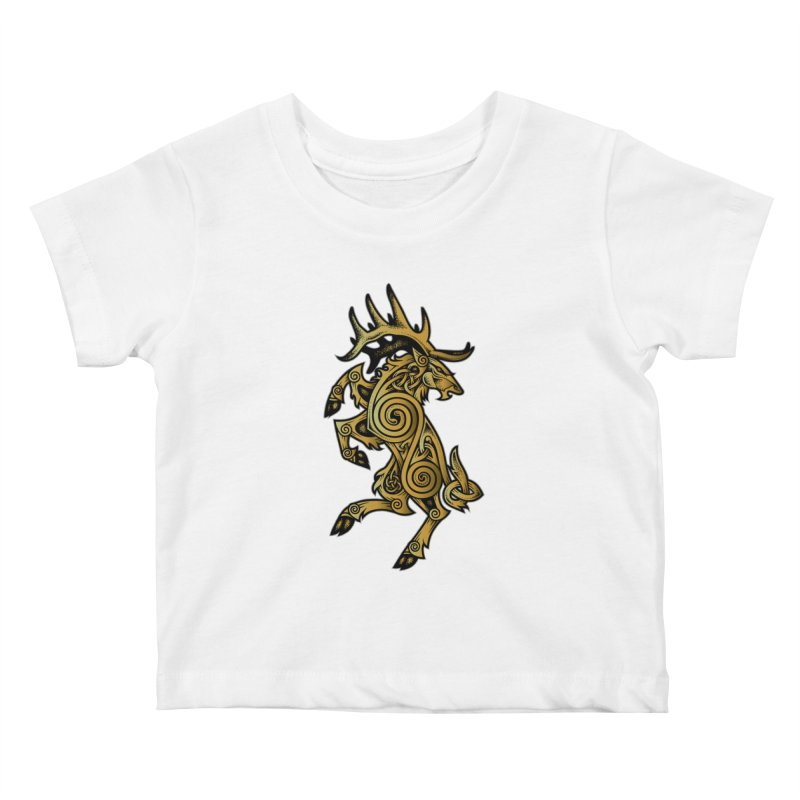 Celtic Elk Rampant Kids Baby T-Shirt by Celtic Hammer Club Apparel