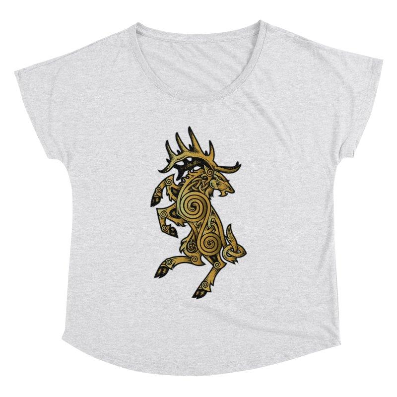 Celtic Elk Rampant Women's Dolman by Celtic Hammer Club Apparel