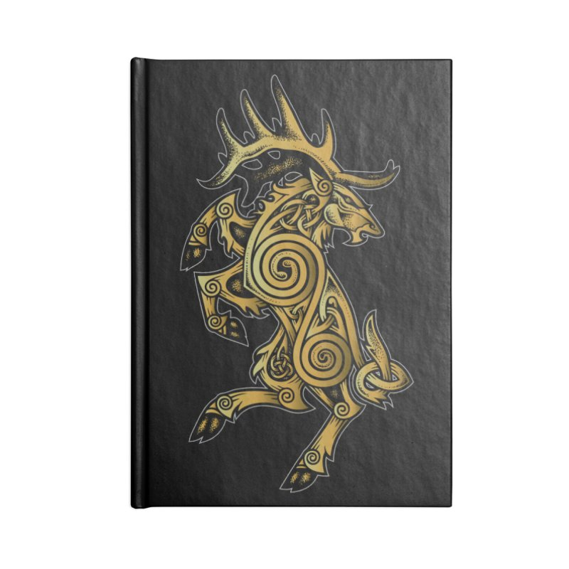 Celtic Elk Rampant Accessories Notebook by Celtic Hammer Club Apparel