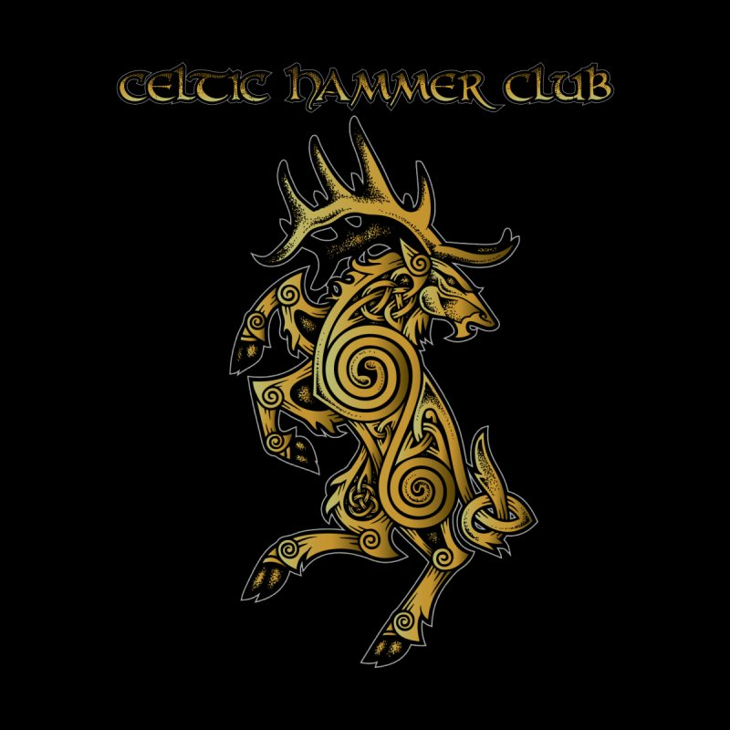 Celtic Elk Rampant Men's V-Neck by Celtic Hammer Club