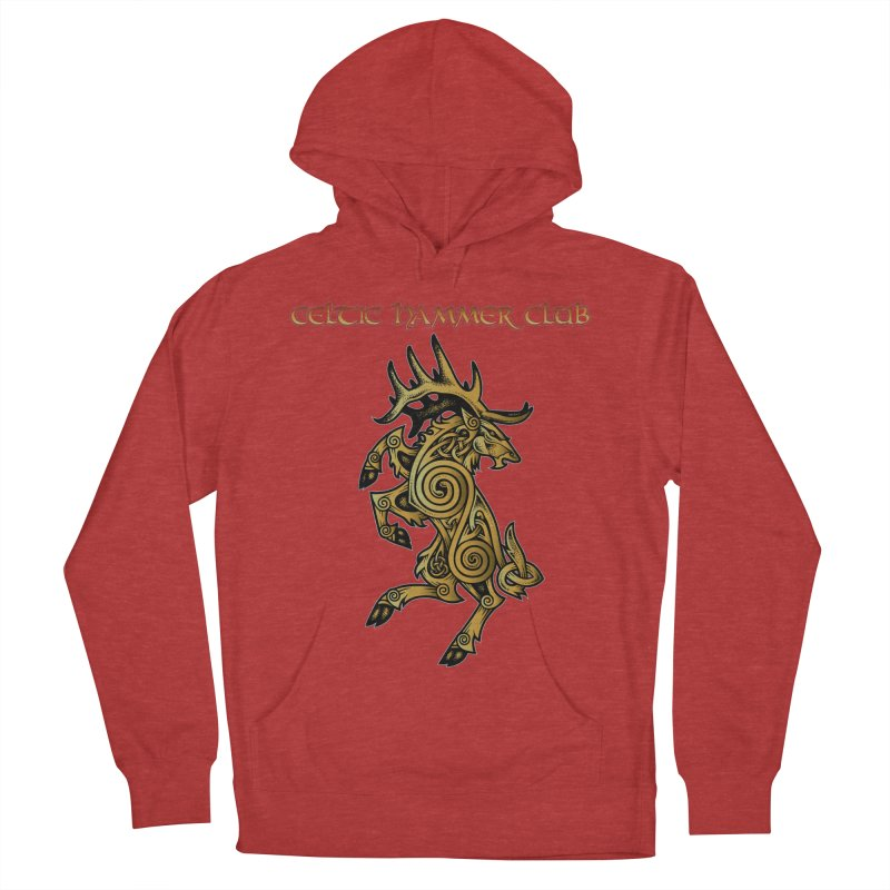 Celtic Elk Rampant Men's French Terry Pullover Hoody by Celtic Hammer Club Apparel