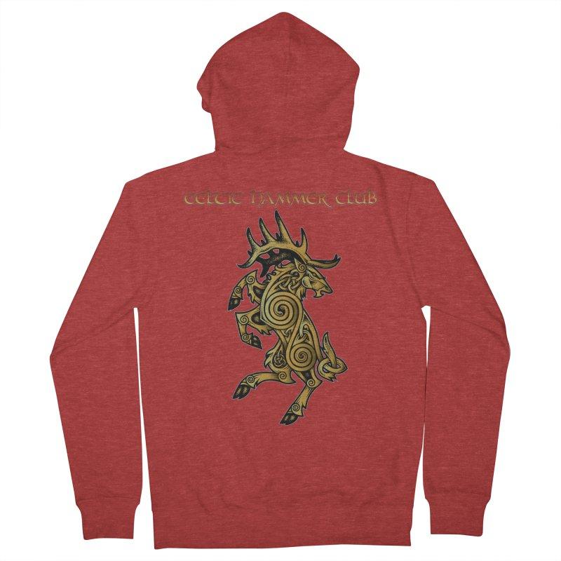 Celtic Elk Rampant Men's Zip-Up Hoody by Celtic Hammer Club Apparel