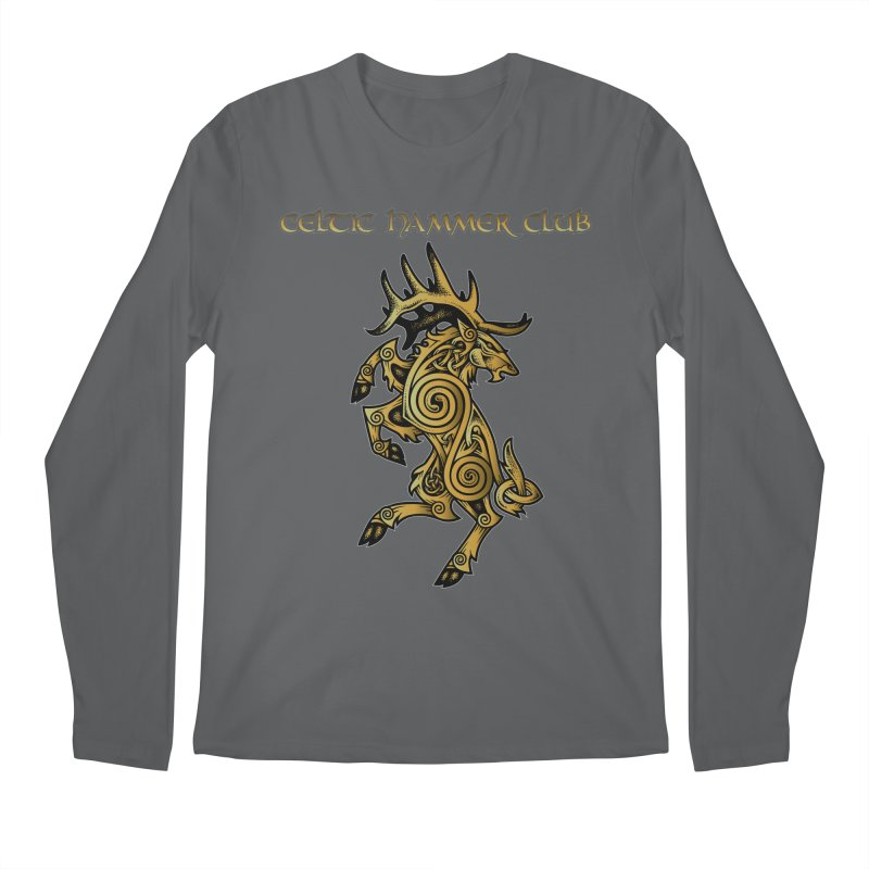 Celtic Elk Rampant Men's Regular Longsleeve T-Shirt by Celtic Hammer Club Apparel