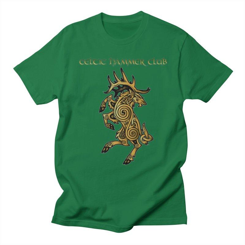 Celtic Elk Rampant Women's Unisex T-Shirt by Celtic Hammer Club Apparel