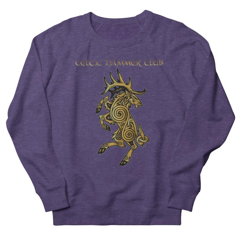 Celtic Elk Rampant Men's Sweatshirt by Celtic Hammer Club Apparel