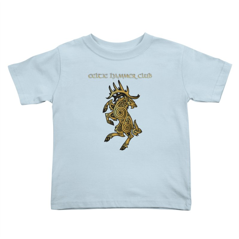 Celtic Elk Rampant Kids Toddler T-Shirt by Celtic Hammer Club