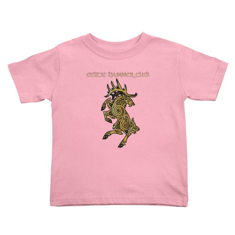 Celtic Elk Rampant Kids Toddler T-Shirt by Celtic Hammer Club Apparel