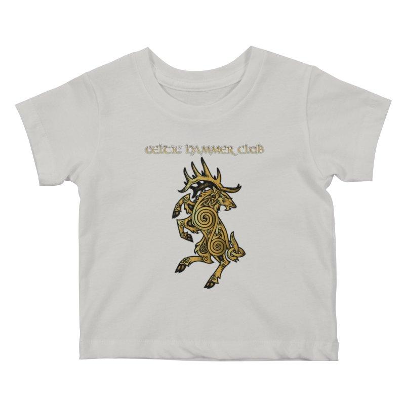 Celtic Elk Rampant Kids Baby T-Shirt by Celtic Hammer Club Apparel