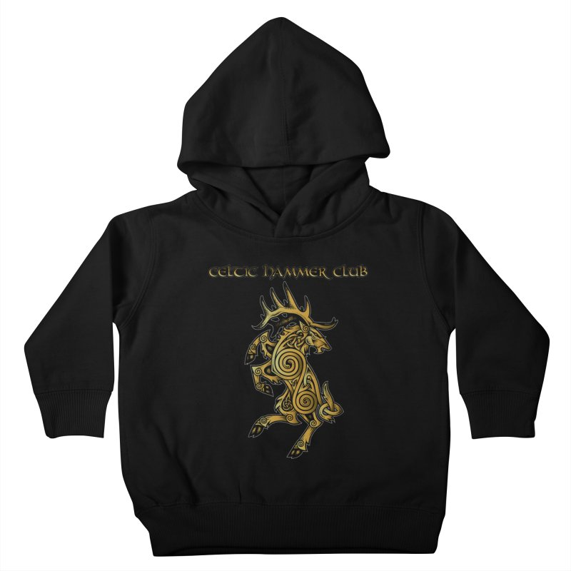Celtic Elk Rampant Kids Toddler Pullover Hoody by Celtic Hammer Club