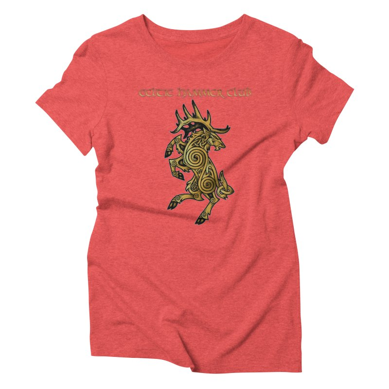 Celtic Elk Rampant Women's Triblend T-Shirt by Celtic Hammer Club Apparel